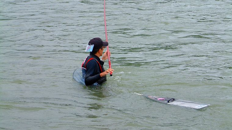 釣竿の持ち方
