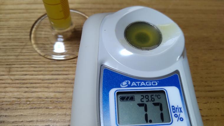 レンジ加熱ミニトマト糖度