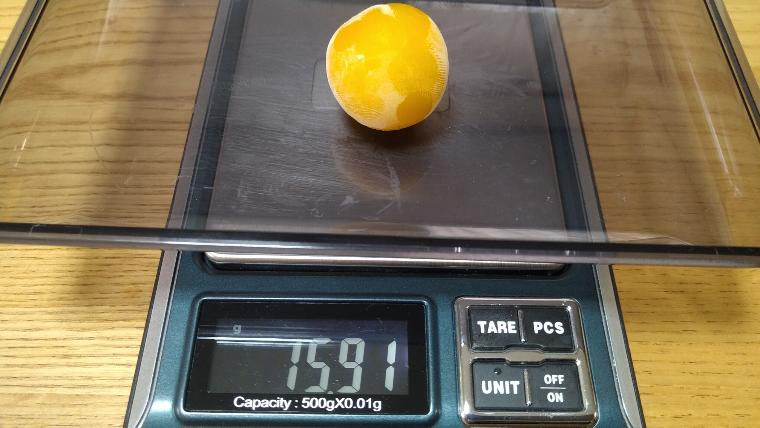 冷凍ミニトマトの重さ画像