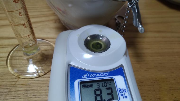 冷凍レンジ加熱のミニトマト糖度画像