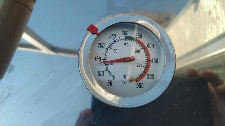 ホンマ製スモーカー純正の温度計