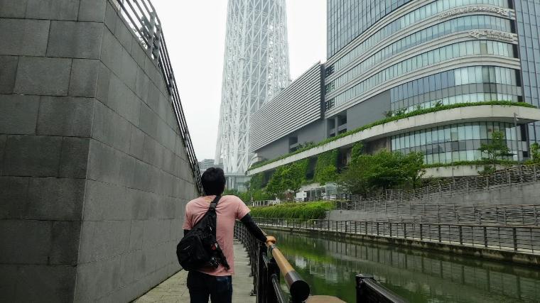 東京スカイツリー下